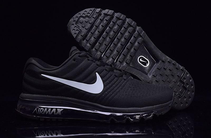 Nike Air Max 2017 Zapatos de la zapatillas negro-blanco para ...
