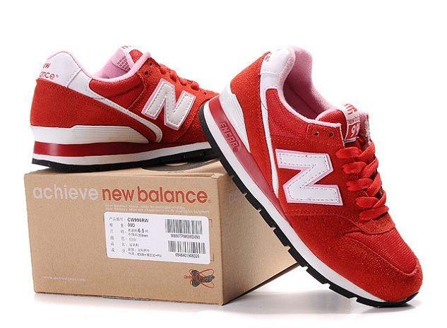 new balance blancas y rojo mujer