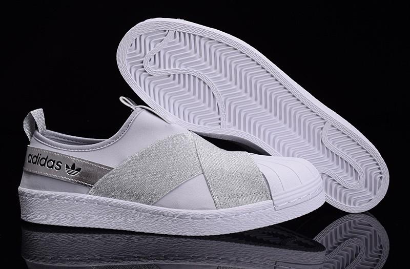 baratas Adidas Superstar SLIP ON blanco platagris zapatos