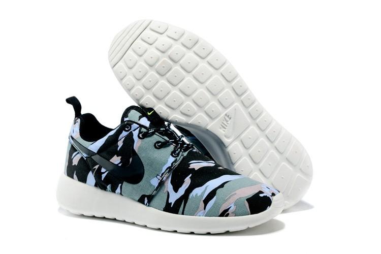 Hombre nike roshe run zapatillas azul negro verde blancas