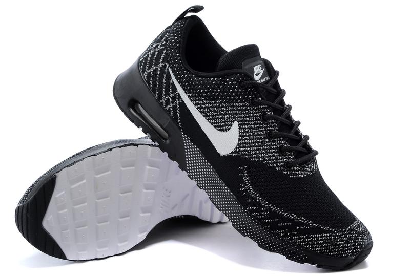 trainers de Nike Air Max Thea Negro Blanco para el hombre para el ... 461143a6a5a