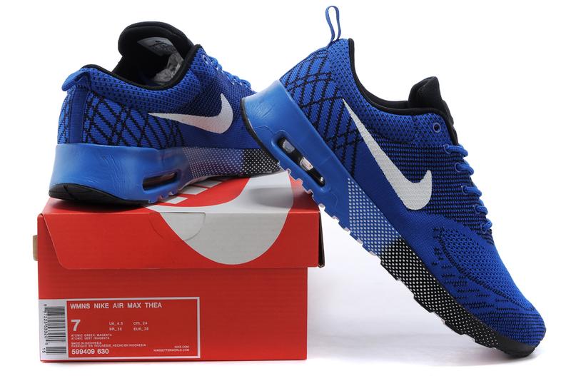 de zapatos baratass Nike Air Max Thea Azul realBlancoNegro
