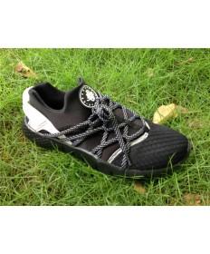 Nike Air Huarache hombre todos los formadores zapatillas de deporte negras