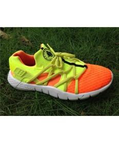 Nike Air Huarache hombre zapatos color naranja y amarillo