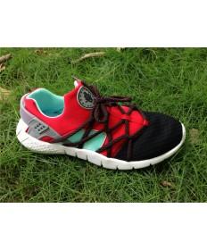 Nike Air Huarache hombre zapatos formadores negro y rojo