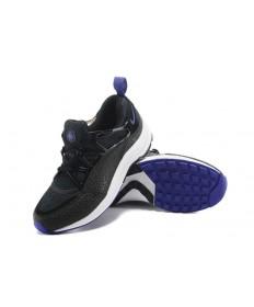 Nike Air Huarache de luz zapatos formadores de negro y púrpura