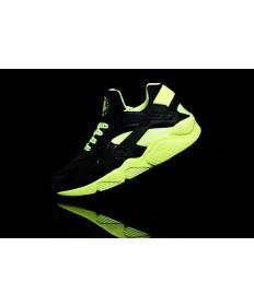 Nike Air Huarache luz negra y fluo formadores zapatillas de deporte