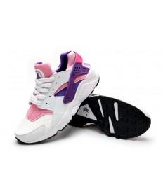 Nike Air Huarache luz blanca formadores de color rosa púrpura para las mujeres