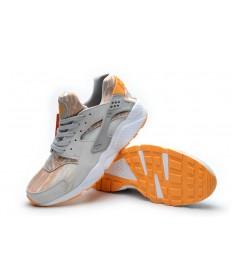 Nike Air Huarache de luz zapatos gris naranja formadores para los hombre