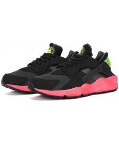 Nike Air Huarache Triple verde negro y de los formadores zapatillas de color rosa para hombre
