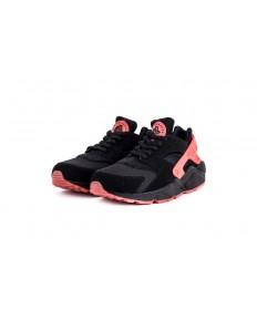 Nike Air Huarache triples zapatillas de color rosa negro para los hombre