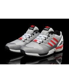 Adidas ZX Flux tejer para hombre grises Gainsboro/plata/formadores de color rojo