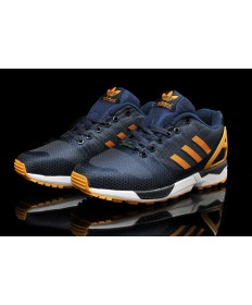 Adidas ZX Flux tejer para hombre oscuroslateazul/oscuronaranja formadores zapatillas de deporte