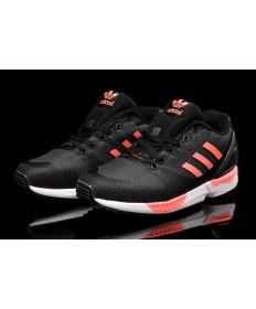 Adidas ZX Flux tejer para hombre negro/rosa claro zapatillas de deporte