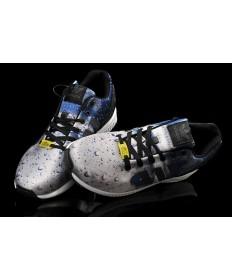 Adidas ZX Flux lloviendo azul/gris formadores zapatillas de deporte para hombre
