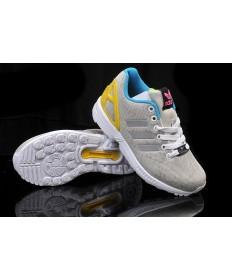 Adidas ZX Flux las zapatillas de deporte gris/blanco/amarillo/azul