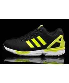 Adidas ZX Flux zapatos para hombre verde negro/fluo