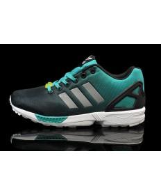 """Adidas ZX Flux formadores """"reflexivas"""" zapatillas de deporte de color turquesa/negro"""