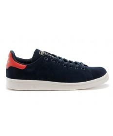 Adidas Stan Smith añil/rojo formadores zapatillas de deporte