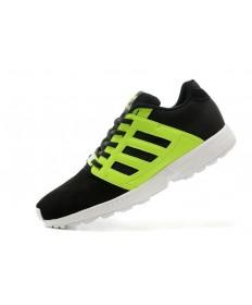 Adidas ZX FLUX 2.0 gamuza formadores de amortiguación zapatos negros verde hombre/fluo