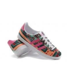 Adidas Gazelle oscurocyan/ligerosalmon formadores zapatillas de deporte para las mujeres