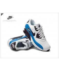 Nike Air Max 90 instructores Esenciales blanco-azul-negro
