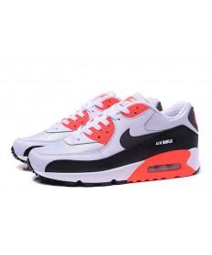 Nike Air Max 90 zapatillas de deporte de primavera blanco-negro-naranja para mujer