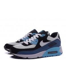 Nike Air Max 90 zapatos de primavera de color gris-negro-azul-cian para las mujeres