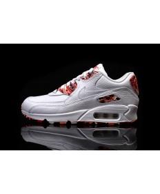Nike Air Max 90 QS WMNS Londres blanco-rojo paint mujer Zapatos de la zapatillas