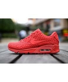 Nike Air Max 90 zapatillas de deporte de la ciudad diosa rojo mujer