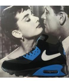 Nike Air Max 90 Hightop azul hombre negro formadores zapatillas de deporte