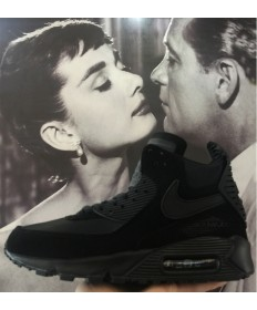 Nike Air Max 90 Hightop negro hombre trainers