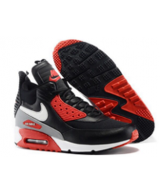 zapatos rojos negros de Nike Air Max 90 Hightop