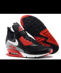 zapatos rojos negros de Nike Air Max 90 Hightop