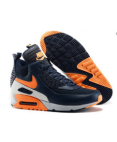 Nike Air Max 90 Hightop naranja negro Zapatos de la zapatillas