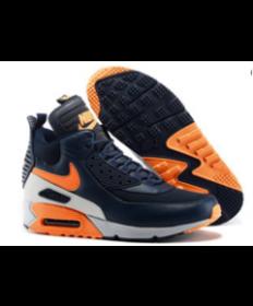 Nike Air Max 90 Hightop naranja negro Zapatos de la zapatillas