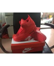 Nike Air Max 90 Hightop formadores de color rojo