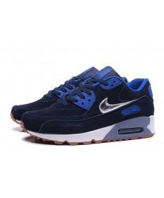 Nike Air Max 90 medianoche azul-reales zapatillas de deporte azul-plata