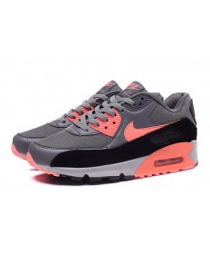 Nike Air Max 90 zapatillas de deporte de color gris-naranja intenso