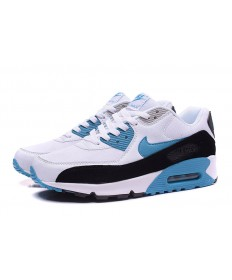 Nike Air Max 90 instructores zapatillas de deporte blanco-azul-negro