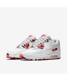 Nike Air Max 90 zapatos-blanco-rojo