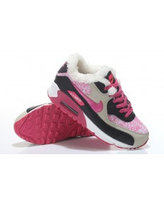 Nike Air Max 90 zapatos de piel color de rosa y plata
