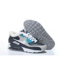 Nike Air Max trainers de piel 90 cian-azul-blanco