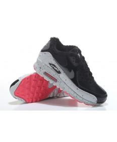 Nike Air Max zapatos de piel 90 negro-gris