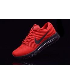 Nike Air Max 2017 formadores de color rojo-negro zapatillas de deporte para hombre