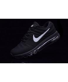 Nike Air Max 2017 Zapatos de la zapatillas negro-blanco para hombre