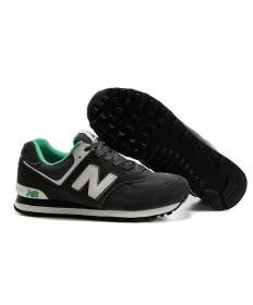 New Balance 574 Zapatos de la zapatillas gris oscuro, blanco para los hombre de