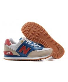 New Balance 574 zapatos Reales, Rojo + Oro + beige de los hombre