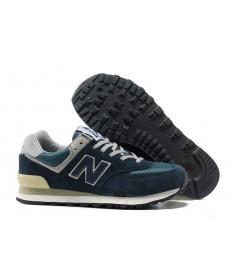 New Balance 574 Zapatos de la zapatillas de la Marina de los hombre de