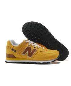New Balance 574 zapatillas amarillas de los hombre